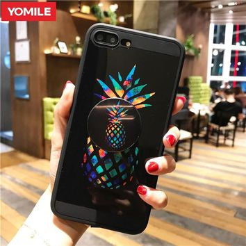 Batman Dark Knight gift Christmas YOMILE Case For iPhone 7 6s 6 7 Plus X 8 Plus Marble Pineapple iron Man Batman Flamingos Mickey Kumamon Shell With Stand Holder AT_71_6
