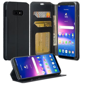 Samsung Galaxy S10 Lite Case, Galaxy S10 Lite Wallet Case, Pu Leather Wallet Case [Kickstand] with ID & Credit Card Slots for Galaxy S10 Lite - Black
