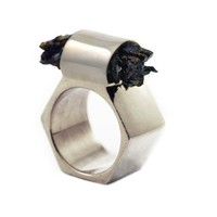 Rough Titanium Ring - Silver -40%
