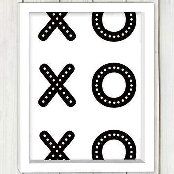 XO printable art,DIGITAL FILE, wall art, home decor,art print,instant download