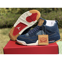 Nike Air Jordan AJ 4 Retro X Levis Denim Basketball Sneaker