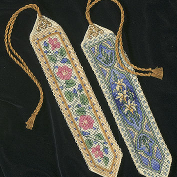 """Gold Collection Bookmarks Counted Cross Stitch Kit-9"""""""" Long 14 Count Set Of 2"""