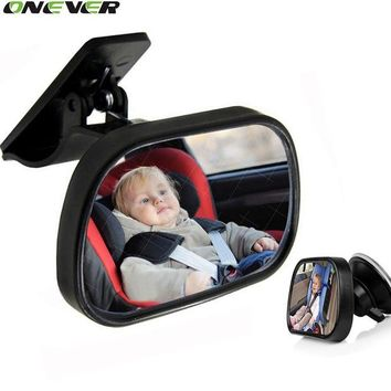ONETOW 1Pcs Mini Car Back Seat Baby View Mirror 2 in 1Rear Convex Mirror Adjustable Monitor Reverse Safety