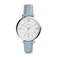 Jacqueline Smokey Blue Leather Watch