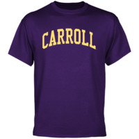 Carroll College Fighting Saints Basic Arch T-Shirt - Purple