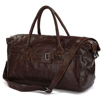 Vintage Genuine Leather Travel Bag Men Soft Real Leather Duffel Bag Luggage Travel Bag Men Big Business Duffle Bags Weekend Tote