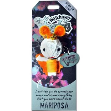 "Watchover VOODOO DOLL Keychain, MARIPOSA Butterfly, Born To Soar, 3"" Tall - Walmart.com"