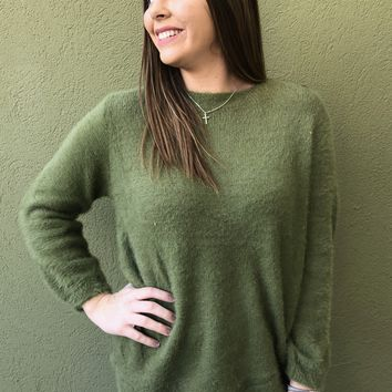 Green with Envy Sweater - Olive Green