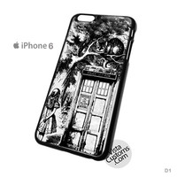 Alice in Wonderland on Tardis Call Box Phone Case For Apple,  iphone 4, 4S, 5, 5S, 5C, 6, 6 +, iPod, 4 / 5, iPad 3 / 4 / 5, Samsung, Galaxy, S3, S4, S5, S6, Note, HTC, HTC One, HTC One X, BlackBerry, Z10