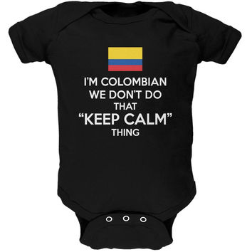 Don't Do Calm - Colombian Black Soft Baby One Piece