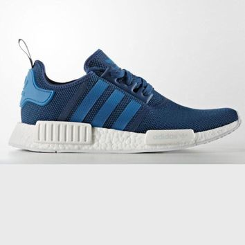 """Adidas"" Women Men Trending NMD Running Sports Shoes Pink navy blue"