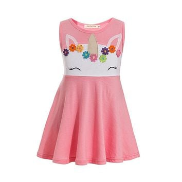 Cute Baby Girl Unicorn Summer Dress