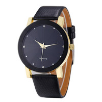 Quartz Watch Top Luxury Gold Military army Relogio Masculino Dial PU Leather Band Date Wrist WatchES Men