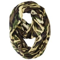 Camo Infinity Scarf - Green/Brown