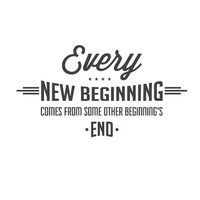 wall quote - Every New Beginning