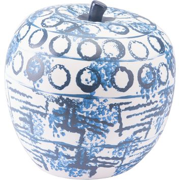 Blue & White Ree Apple Figurine