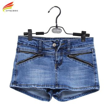 Denim Skort Shorts For Women 2017 Summer New Arrival Double Zipper Fashion Sexy Woman Jean Shorts Skirt Plus Size S-3XL