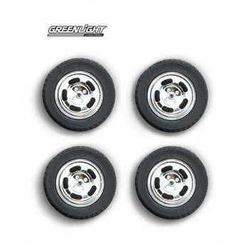 1978 Ford Mustang II Cobra Five Slot Performance Wheels and Tires Set 1-18 by Greenlight