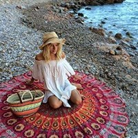 Boho Round Mandala Bohemian Yoga Wall Table Tapestry