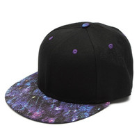 New Galaxy Space Black Adult Hiphop Hat Adjustable Baseball Cap Snapback Unisex