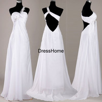 Long Prom Dress - White Prom Dress / One-shoulder Prom Dress / Prom Dress Long / Prom Dress One-shoulder / Long Party Dress