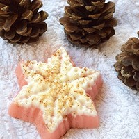 Christmas soap Snowflake soap Holiday soap stocking stuffer Baby Christmas favors Winter soap Handmade soap Cinnamon fruit soap Holiday gift Vegan natural soap Homemade soap