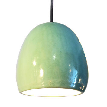 "Porcelain Ceramic Celadon 8"" Clay Pendant Light"