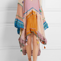 Chloé - Tasseled silk-crepon mini dress