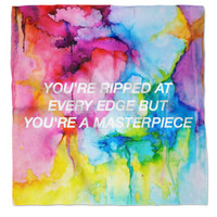 Halsey Lyric Water Colour Bandana