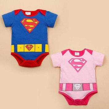 PEAPIX3 Fashion New Baby Girl And Boy Superman Rompers Infant Bodysuit Bebe Jumpsuit Clothing = 1946171844