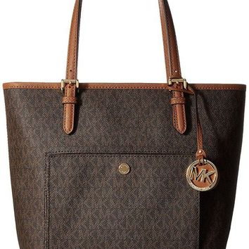 ONETOW MICHAEL Michael Kors Jet Set Travel Medium Logo Tote