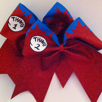 3in. Thing 1 & 2 Glitter Cheerbow Set