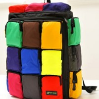 Color Block 18-pocket Backpacks