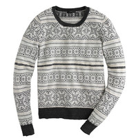 J.Crew Womens Ivory Fair Isle Sweater