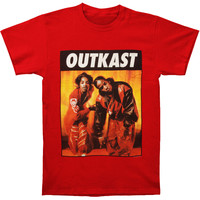Outkast Men's  Kneeling Photo Red Slim Fit T-shirt Red