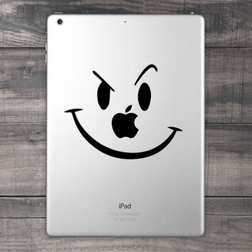 Smiley Face iPad Decal