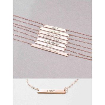 Personalized Name Plate Necklace - 30% OFF!
