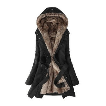 The Fifth Generation Faux Fur Lined Coat. US Size XXS to Size XL.