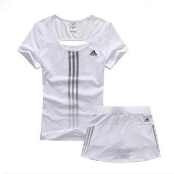 Trendsetter Adidas Woman Gym Sport Yoga Embroidery Top Cami Shorts Set Two-Piece Sport