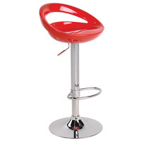 Bs-Tw-Swzl R Lumisource Swizzle Bar Stool Red