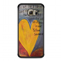 Yellow Submarine Beatles Song Lyrics Canvas For samsung galaxy s6 edge case