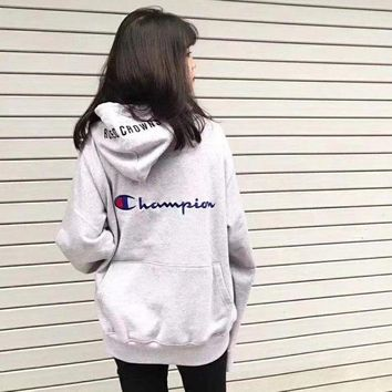ONETOW Champion x RC Women Fashion Embroidery Hoodie Top Sweater