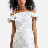 Floral Frill Off the Shoulder Dress