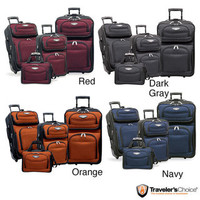 Travel Select by Traveler's Choice Amsterdam 4-piece Luggage Set | Overstock.com