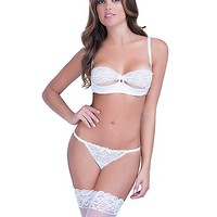 White Lace Push-Up Bra - Spencer's