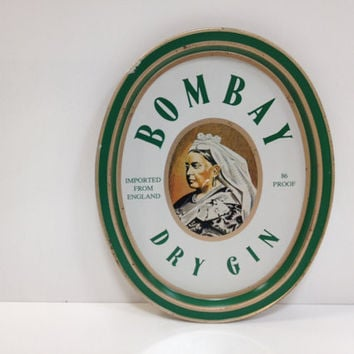 Metal Tray Vintage Bombay Gin Metal Serving by vintage19something