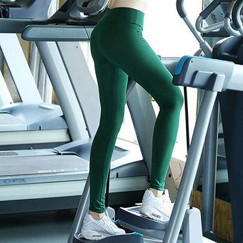 High Waist Cropped Gym Legging