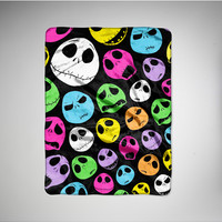 Nightmare Before Chrismas Neon Jack Fleece Throw