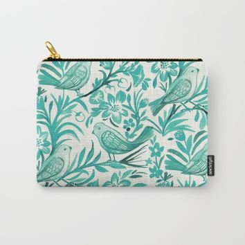 Blue Birds Carry-All Pouch by CRYSTAL WALEN