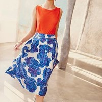 Blueberry Hill Midi Skirt by Wasabi Blue Motif